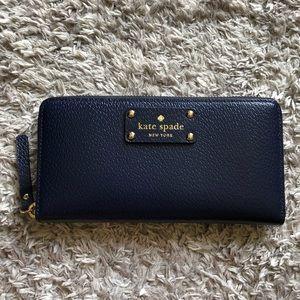 Kate Spade Wallet Navy Blue